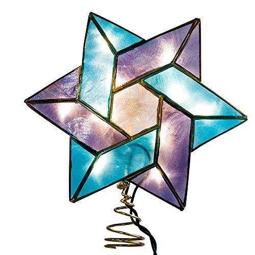 Kurt Adler 10-Light Star of David Capiz Colored Christmas Treetop, 8.5-Inch by Kurt Adler (Image #1)