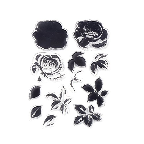 DECORA 1 Piece Color Layering Flower Clear Rubber Stamp for Scrapbooking and Cards Decoration -
