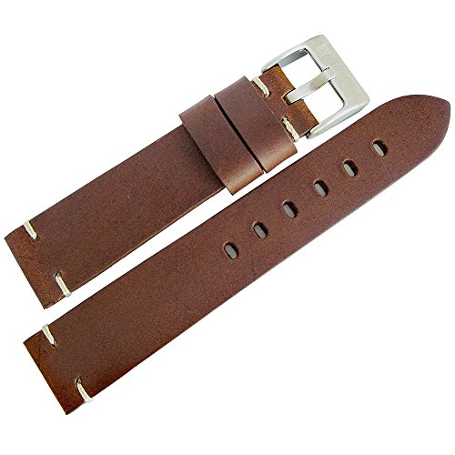 ColaReb 20mm Siena Brown Distressed Leather Mens Watch Strap Made in Italy by ColaReb