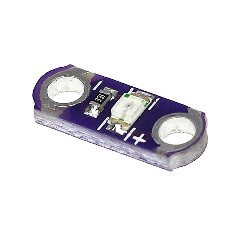 20 Piezas//Los Lilypad LED Lilypad Button Board m/ódulo LED luz para 3 V-5 V SMD DIY Kits Rojo