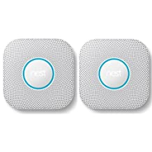 Nest 2 Pack Protect Smoke and Carbon Monoxide Alarm with Battery, White