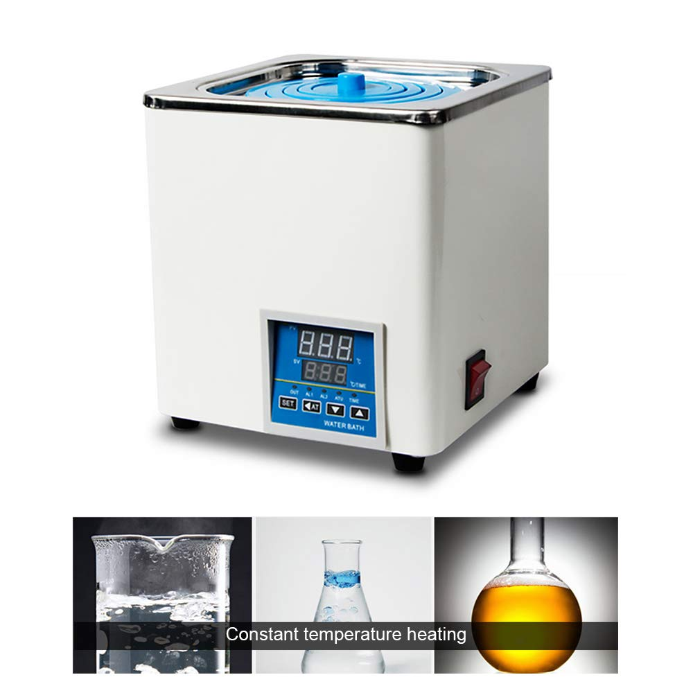 ETE ETMATE Digital Thermostatic Water Bath Lab Water Bath,Electric Digital Display Constant Temperature Water Bath, with Selectable Openings, RT to 100°C, 3L Capacity, 300W, 110V/60 Hz by ETE ETMATE (Image #10)