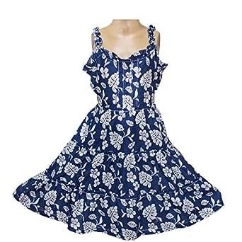 Blue Chiffon Casual Dress For Girls