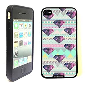 Geometric Pattern Galaxy Diamond Thinshell Case Protective ip4 Case