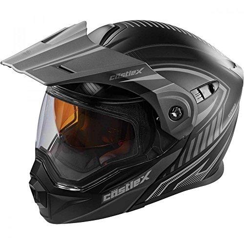 Castle X EXO-CX950 Modular Snowmobile Helmet Solid Black 3XL