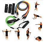 Resistance Bands 11pcs Home Exercise Workout Pilates Yoga Crossfit Fitness Tubes Gym