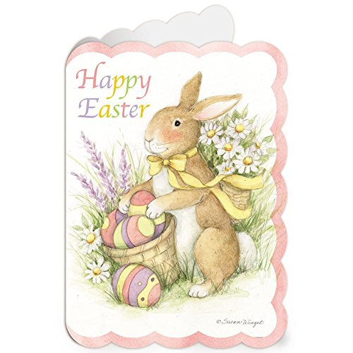 Diecut Bunny Easter Greeting Cards - Set of 8 (1 design), Large 5