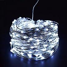 DODOLIGHTNESS 20M 200 LED Sliver Wire String Lights Waterproof USB LEDs Starry String Lights for Bedroom Indoor Outdoor Decorative(Cool White)