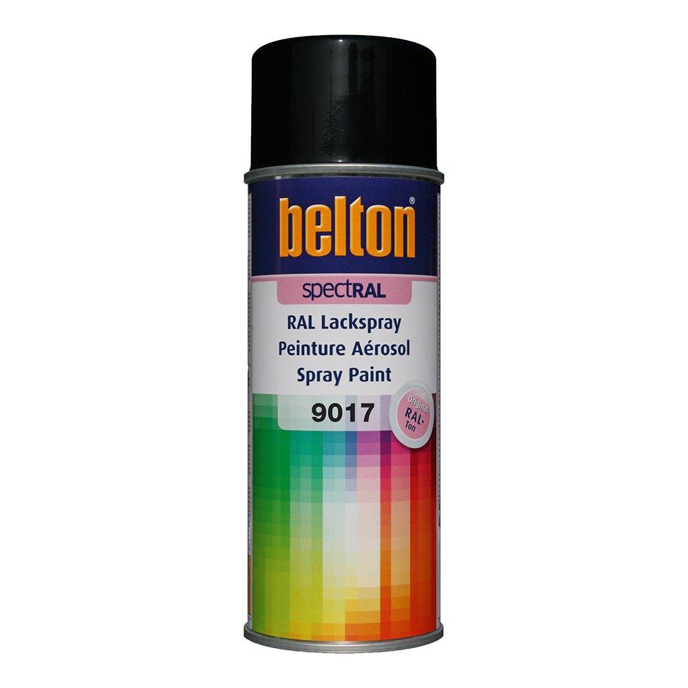 RAL 9017 NOIR SIGNALISATION Mat (BELTON) (Bombe peinture 400 ml) - bombe aerosol reparation peinture carrosserie voiture teintes standrard et RAL (reference couleur constructeur 150 ou 400 ml) Auto K