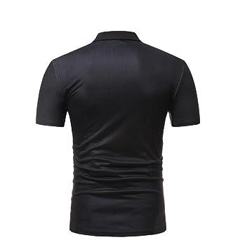 Cinnamou Camiseta Casual de Manga Corta con Cuello EN Pico y Estampado Africano de Verano de los Hombres Ocasionales dUaKadZXe