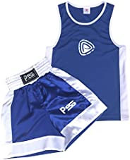Kids Boxing Shorts & Top Set 2 Pieces Satin Fabric 3 to 14 Y