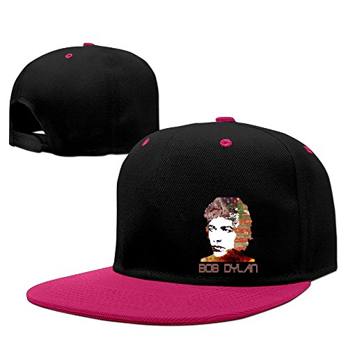 Custom Unisex-Adult Bob Dylan Flat Bill Baseball Caps Pink (The North Face Catherine Jacket)