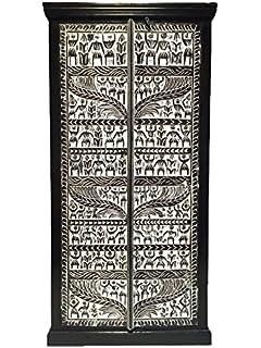 Marrakech Accessoires – Grande – Armario ropero Simba 180 cm de Alto, marroquí Vintage Vestíbulo Armario Estrecho |…
