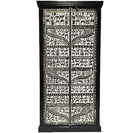 Marrakesch Simba - Armario ropero de madera maciza oriental para el pasillo, dormitorio, salón o baño: Amazon.es: Hogar
