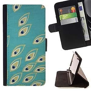 For LG Nexus 5 D820 D821 Case , Teal Ojos Naturaleza Pájaro Pretty- la tarjeta de Crédito Slots PU Funda de cuero Monedero caso cubierta de piel