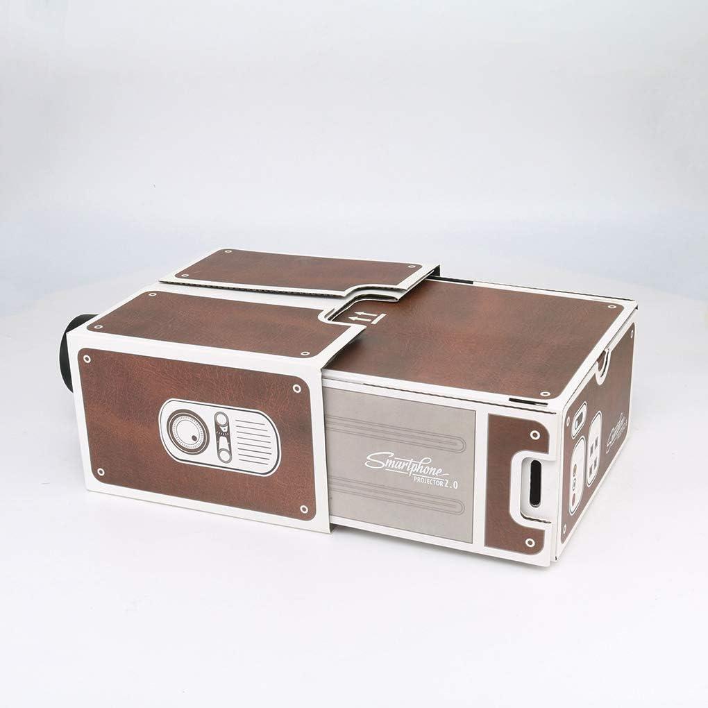Nowear Mini proyector 3D de cartón para Smartphone con proyector ...
