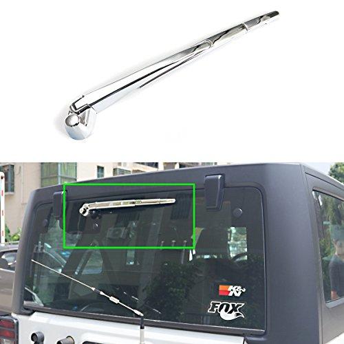 Cubierta de brazo de limpiaparabrisas Moebulb para Jeep Wrangler 2007 - 2017 JK embellecedor para limpiaparabrisas: Amazon.es: Coche y moto