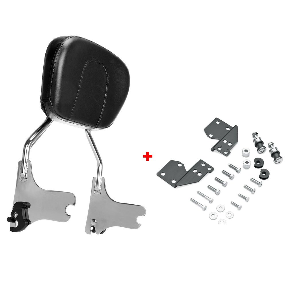 ASD Chrome Detachable Passenger Backrest Sissy Bar W/ Docking Hardware Kit for Harley Davidson 1997-2008 Touring Electra Glide Road King Street Glide XJMT