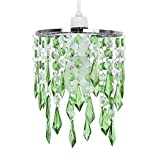 MiniSun - Elegant Chandelier Design Ceiling Pendant Light Shade With Beautiful Green And Clear Acrylic Jewel Effect Droplets