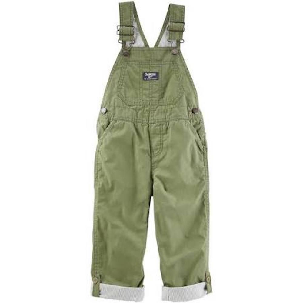 OshKosh B'Gosh Toddler Boy Olive Green Cuffed Overalls 3T
