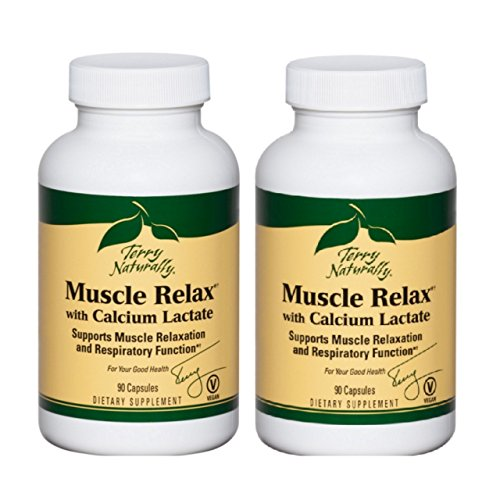 Terry Naturally EuroPharma Muscle Relax With Calcium Lactate, 90 Caps -2 Pack