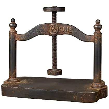 Image of Drill Presses Sterling 129-1009 Cast Iron Book Press, 18 by 20-Inch, Restoration Rusted Black