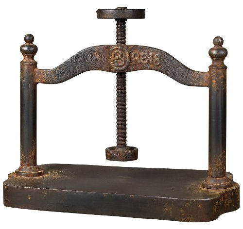 Sterling 129-1009 Cast Iron Book Press, 18 by 20-Inch, Restoration Rusted Black