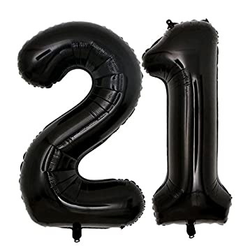 40inch Jumbo Black 21 Number Balloons For 21st Birthday Decorations Helium Party Supplies Use Them