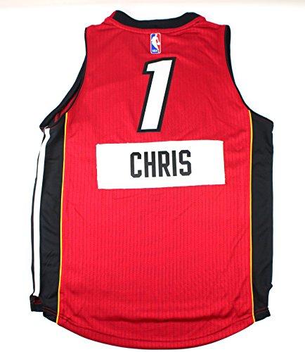 Chris Bosh Miami Heat #1 NBA Youth New Swingman X-Mas Day Jersey Red (Youth Small 8)