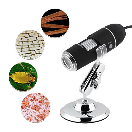 TekDeals 1X-500X Zoom 2.0MP USB Microscope Endoscope Loupe Camera Video Adjustable Stand