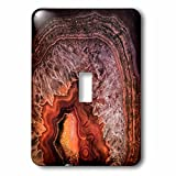 3dRose Uta Naumann Pattern - Image of Luxury Copper Coffee Brown Marble Agate Gem Mineral Stone - Light Switch Covers - single toggle switch (lsp_274957_1)