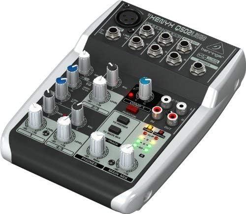 Behringer Xenyx Q502USB - Mezclador USB para DJ (5 entradas, 2 ...