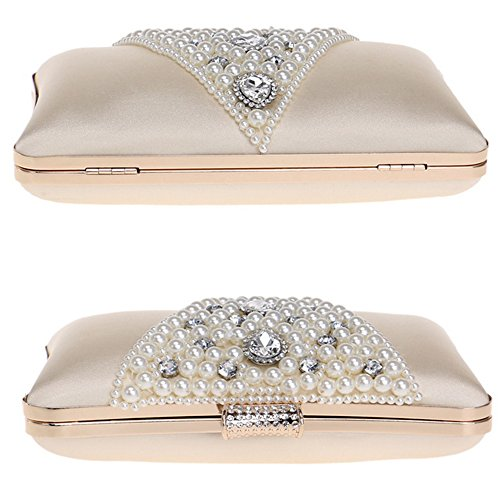 Rhinestone Crystal White Clutch Women Purses Suede Bag Clutch for qIxPX