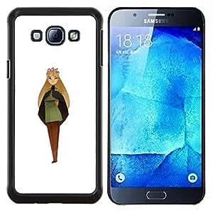 """For Samsung Galaxy A8 ( A8000 ) Case , Mujer Chica Pintura Princesa de hadas del arte de la Corona"""" - Diseño Patrón Teléfono Caso Cubierta Case Bumper Duro Protección Case Cover Funda"""