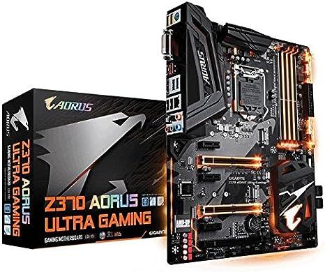 GIGABYTE Z370 AORUS Ultra Gaming (Intel LGA1151/ Z370/ ATX/ 2xM.2/ Front USB 3.1/ RGB Fusion/ Fan Stop / SLI / Motherboard)