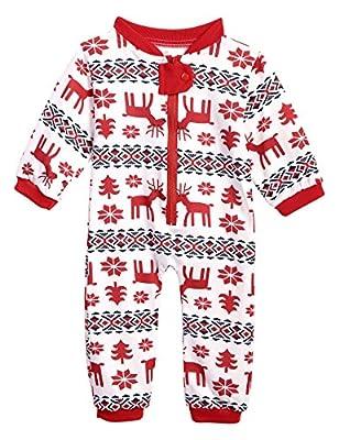 Family Pajama Set, Cute Elk Snowflake Print Christmas Pajamas 2 Pics Sets for Mum Dad Kids