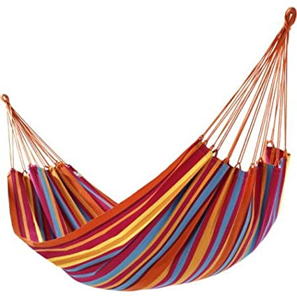 New Cotton Hammock Double Wide Rainbow 1 Person 265lbs