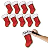 Beistle 10-Pack Mini Christmas Stocking Cutouts, 7-1/4-Inch