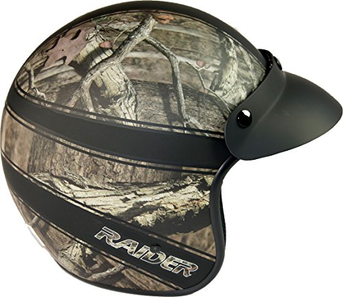 Raider 24-632MO-16 Ambush Adult Open Face Helmet, Mossy Oak Break Up Infinity ()