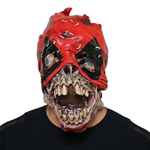 Cywulin Halloween Head Latex Mask Party Scary Props Mask Cosplay Horror Grimace Costume Zombies for Men Women Decoration ()
