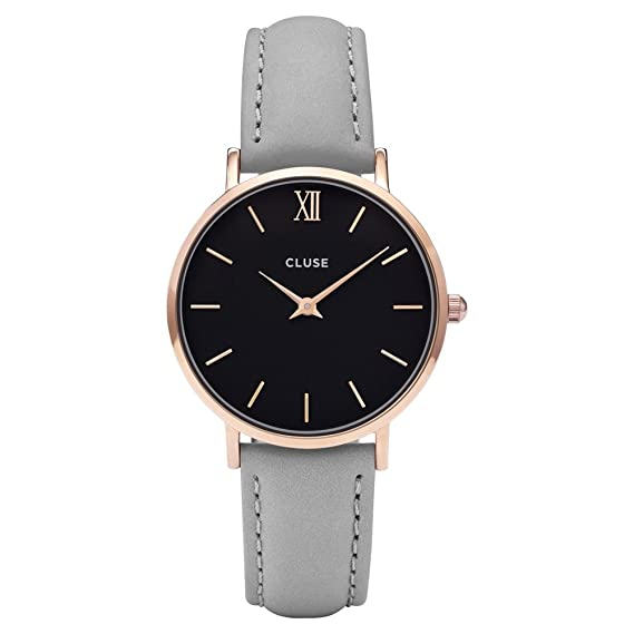 Cluse Reloj Analógico de Cuarzo para Mujer con Correa de Cuero - CL30018: Cluse: Amazon.es: Relojes
