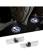 2PCS Car Door Logo Projector Welcome Light Ghost Shadow Lights LED Logo Lighting No Drill Type Led Courtesy Step Lights for Nissan Cars