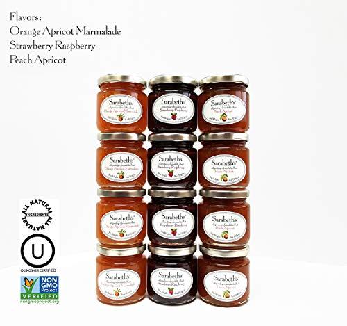 (Sarabeth's Jams - One Dozen 4oz Jars (3 flavors) Table Serving Size)