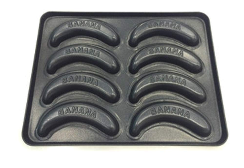 Banana Shaped Coated Steel Mold Cookie,One Cup Cake Pan For Baking Shapes Decorating, 8-cavity