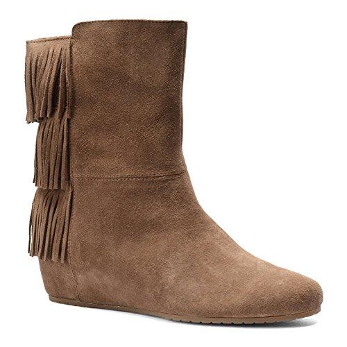 Geschlossener Stiefel Frauen Fashion Tricia Leder Brown Havana Zeh ISOLA wFEY4xvY