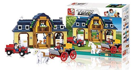 Bausteine Town Serie Pferdehof, Spielzeug & Gadgets Sluban ist der Markenname (973977008981)