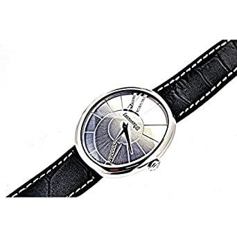 Uhr Eberhard Gilda 61008 Quarz (Batterie) Stahl Quandrante Stahl Armband Leder