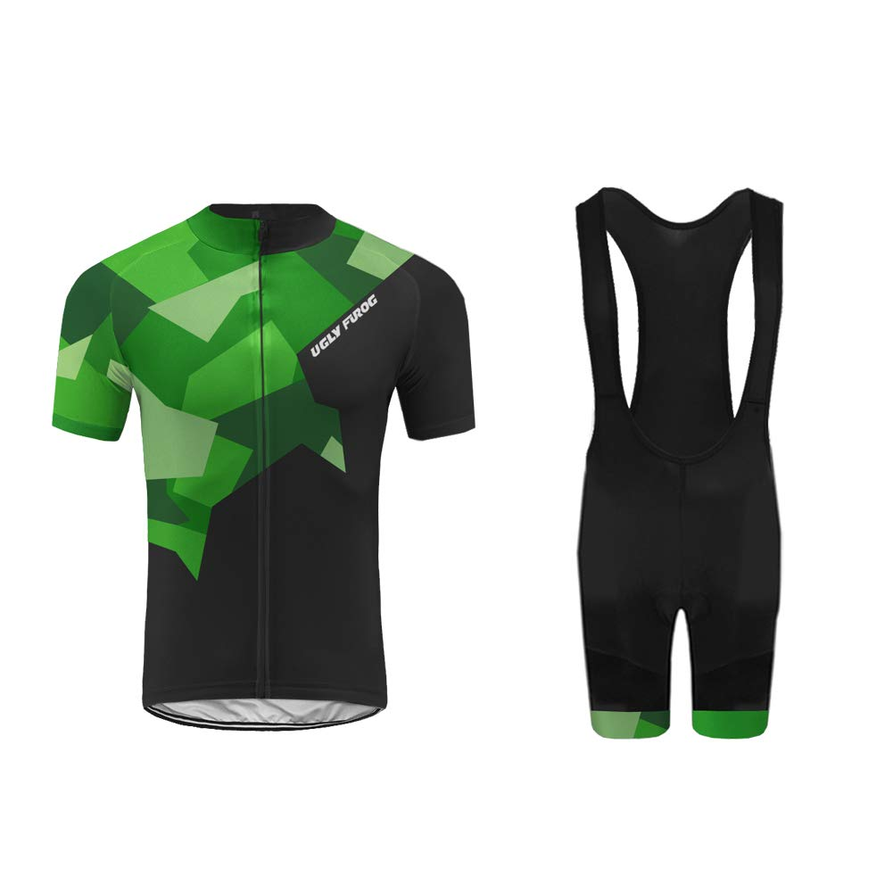 Uglyfrog Summer Cycling Jersey with Bib Shorts Suit For men Bike Clothes Set DXMX08F