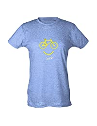 Plain Lazy Happy Bike Womens T-Shirt by Pop Threads