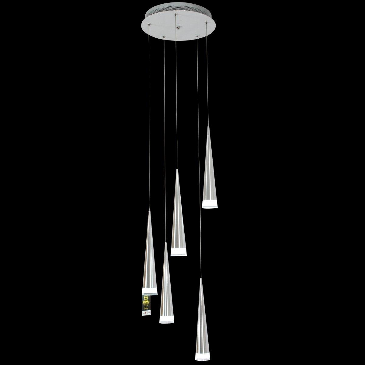 1731270 White Dining Room//Kitchen Bulb Included 110-240V LightInTheBox Max 5W 3 Pendant Light Modern Chrome Acrylic Chandeliers Ceiling Lighting Fixture for LED Metal Living Room//Bedroom